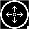 White Skill Icon Signage and Environmental Wayfinding | Chris Ward