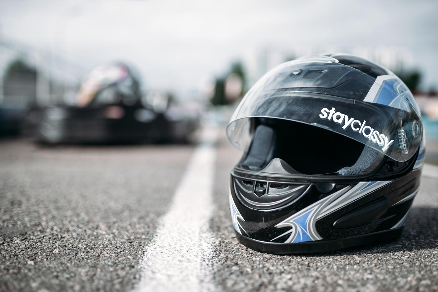 StayClassy sponsored race helmet