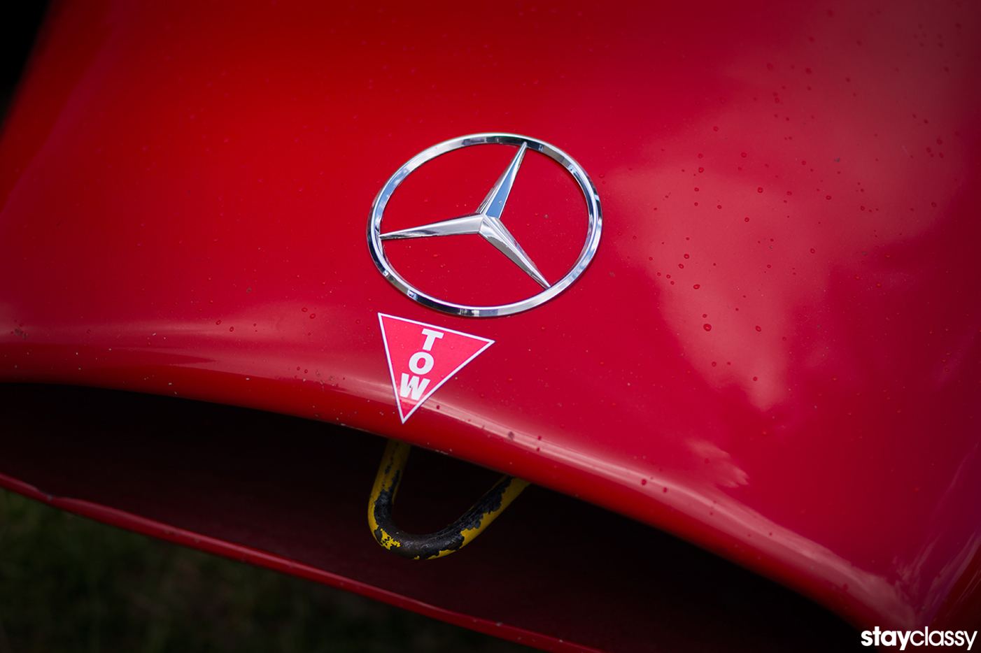 StayClassy Mercedes Race Hood Tow Hook